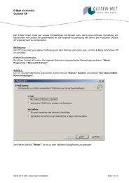 E-Mail einrichten Outlook XP - gelsen-net