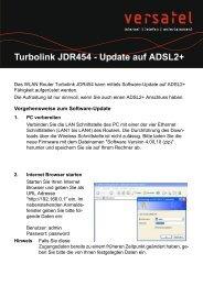 Anleitung Firmware Update JDR 454 - gelsen-net