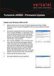 Anleitung Firmware Update AR860E1 - gelsen-net