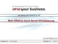 Möglichkeiten der Server-Virtualisierung - gelsen-net