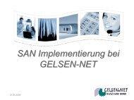 SAN Implementierung bei GELSEN-NET