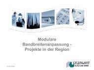 Modulare Bandbreitenanpassung - aktuelle Projekte in ... - Gelsen-Net