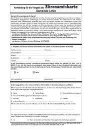 Anmeldung Ehrenamtskarte Gemeinde Lehre