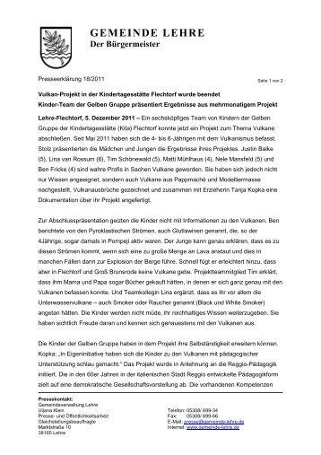 PE_18-2011_Vulkan-Projekt_Kita Flechtorf - Gemeinde Lehre