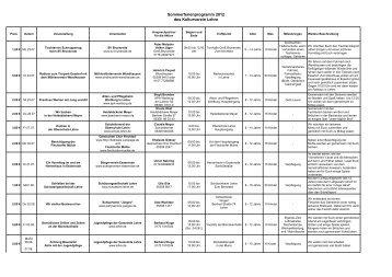 Sommerferienprogramm 2012 des Kulturverein ... - Gemeinde Lehre