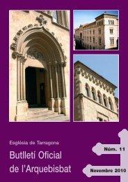 Butlletí Oficial de l'Arquebisbat - Arquebisbat de Tarragona