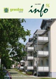 Infobroschüre - Gewobau Wetzlar