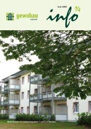 Juni 2008 Wohnhäuser im Lampertsgraben 1 ... - Gewobau Wetzlar