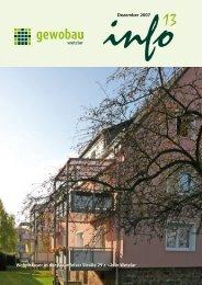 Dezember 2007 Wohnhäuser in der Braunfelser ... - Gewobau Wetzlar