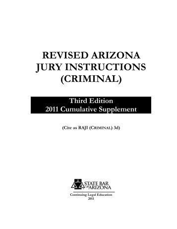 Revised Arizona Jury Instructions Criminal