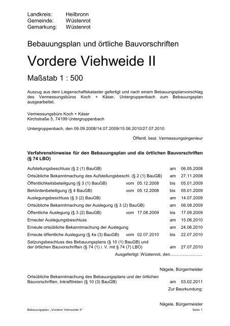 Vordere Viehweide II - Gemeinde Wüstenrot