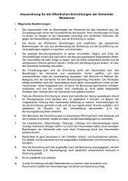 PDF Datei Hausordnung - Gemeinde Wüstenrot