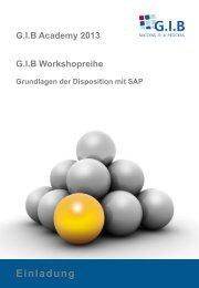 Grundlagen der Disposition in SAP - G.I.B