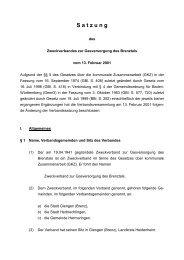 Satzung des Zweckverbandes zur Gasversorgung ... - Stadt Giengen