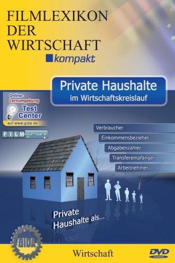 Private Haushalte im Wirtschaftskreislauf  - GIDA