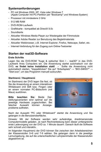 Auge & optischer Sinn I - real3D - GIDA