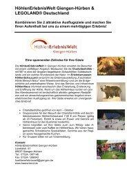 HöhlenErlebnisWelt Giengen-Hürben & LEGOLAND® Deutschland