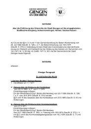 SATZUNG über die Einführung des Ortsrechts der Stadt Giengen auf ...