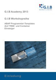 ABAP Programmier Templates Tree & Container - G.I.B