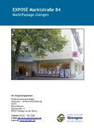 EXPOSÉ Marktstraße 84