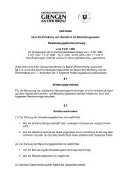 SATZUNG über die Erhebung von Gebühren im ...  - Stadt Giengen