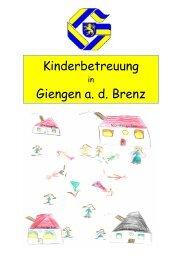Kinderbetreuung Giengen a. d. Brenz - Stadt Giengen