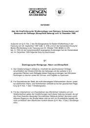 Streupflicht-Satzung - Stadt Giengen
