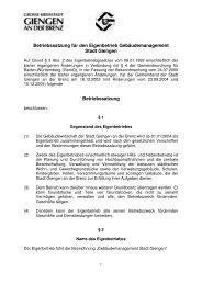Betriebssatzung für den Eigenbetrieb ... - Stadt Giengen