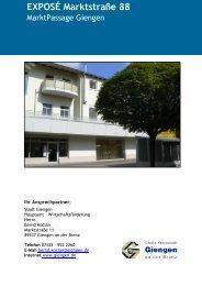 EXPOSÉ Marktstraße 88 - Stadt Giengen