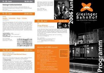 Juni - Giesinger Bahnhof