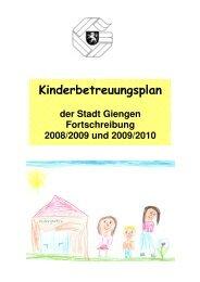Kinderbetreuungsplan - Stadt Giengen