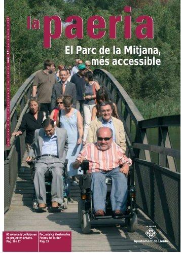 El Parc de la Mitjana, més accessible - Ajuntament de Lleida