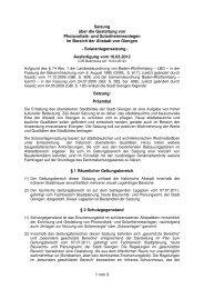 Satzung über die Gestaltung von Photovoltaik - Stadt Giengen