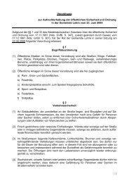 Verordnung Sicherheit und Ordnung - Gemeinde Lehre