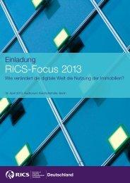 RICS-Focus 2013 Programm und Anmeldung - RICS Europe