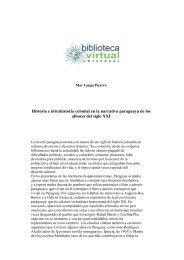 Historia e intrahistoria colonial en la narrativa paraguaya de los ...
