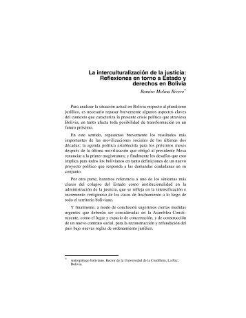 La interculturalización de la justicia: Reflexiones en torno a ... - IIDH