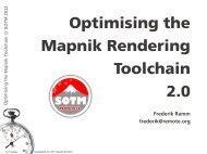 Optimising the Mapnik Rendering Toolchain 2.0 - Geofabrik