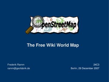 The Free Wiki World Map - Geofabrik
