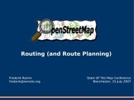 Routing (and Route Planning) - Geofabrik