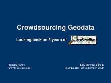 Crowdsourcing Geodata - Geofabrik