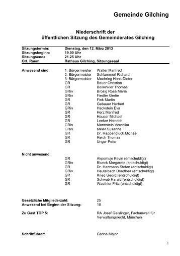 NEU - 12. März 2013 - Gemeinde Gilching