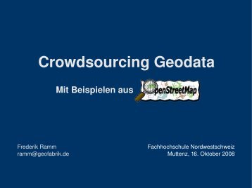 slides as pdf - Geofabrik