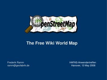 The Free Wiki World Map - Geofabrik