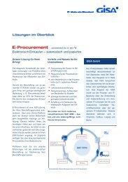 E-Procurement (PDF; 215 KB) - GISA GmbH