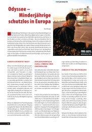 Odyssee – Minderjährige schutzlos in Europa