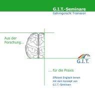Aus der Forschung für die Praxis - GIT  Seminare