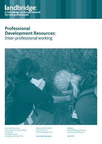 Professional Development Resources: Inter-professional working