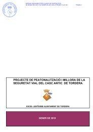 projecte de peatonalització i millora de la seguretat vial del casc ...