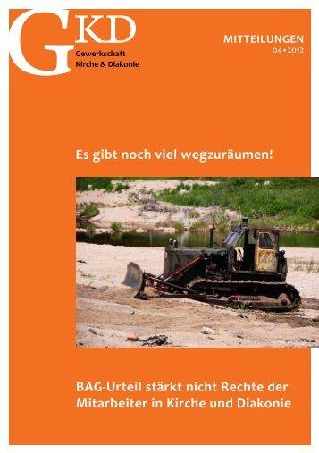 Mitteilungen 4-12.pdf - GKD - Gewerkschaft Kirche und Diakonie